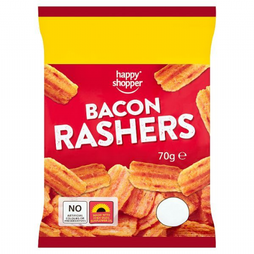 Happy Shopper Bacon Rashers 70g